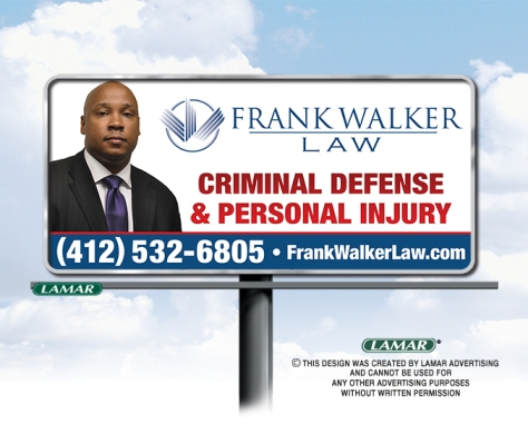Frank Walker Law Pittsburgh Billboard